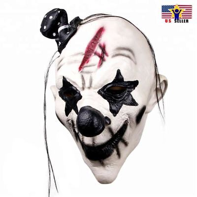 Scary Dance Costumes (Pennywise Dancing Clown Costume Latex Rubber Horror Scary Mask Halloween)