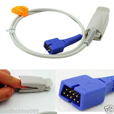 Medical Fit For Nellcor Spo2 Sensor  Adult Finger Clip Oximax Sensor  1M 9 Pins