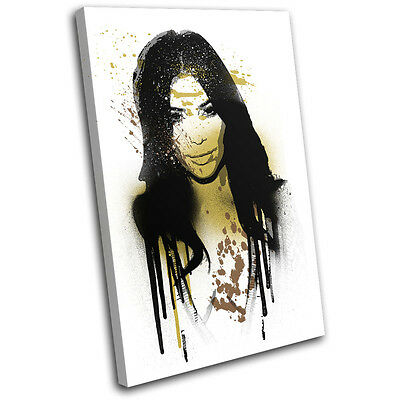 Kim Kardashian Urban Iconic Celebrities SINGLE Leinwand Wand Kunst Bild drucken - Urban Gold Wand