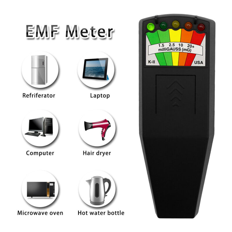 LED EMF Meter Magnetic Field Detector Magnetic Field Detector Equipment Tester