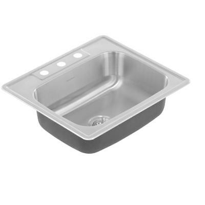 American Standard Colony Pro Drop-In 25 in Single Bowl Kitchen Sink Stainless