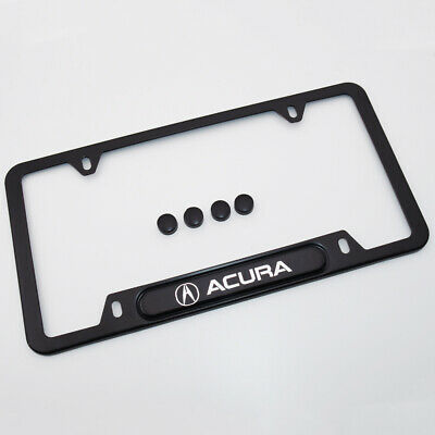 For Acura Brand New License Frame Plate Cover Stainless Steel A-SPEC port Black
