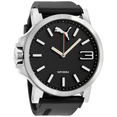 Puma Ultrasize Black Dial Silicone Strap Men's Watch PU102941006
