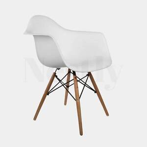 LAST 20! WHITE + BLACK Eames Replica Dining Arm chair (DAW) Sydney Region Preview