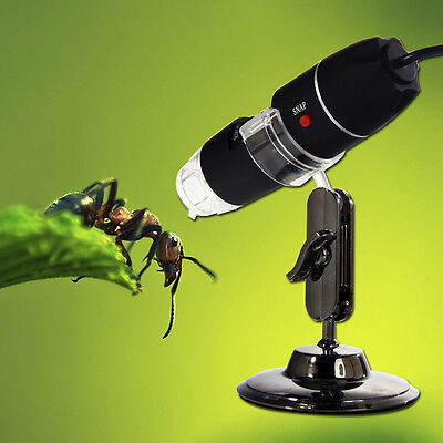 2MP Mega Pixels 50X-500X 8 LED USB Digital Microscope Endoscope Camera Magnifier on Rummage