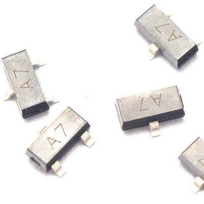 50pcs Bav99 A7 0.2a70v Sot23 Smd Switch Transistor