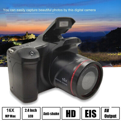 portable 2.4 SLR Digital Camera HD LCD TFT Screen 1080P 16X Zoom Anti-Shake UK
