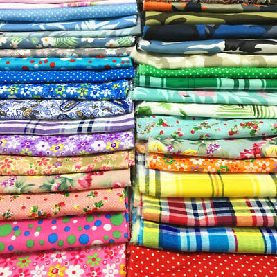 Cotton Fabric Polyester Floral Prints Cloth Sewing Quilting Cloth By the Yard - Floral Polyester Quilt