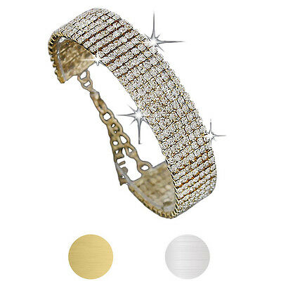 Ladies Women Crystal Rhinestone Bracelet Bangle For Women Bride Wedding Gift](Wedding Bracelets For Bride)