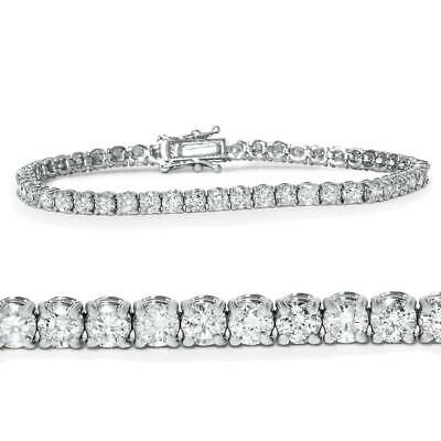 "5ct Diamond Tennis Bracelet 14K White Gold 7"""