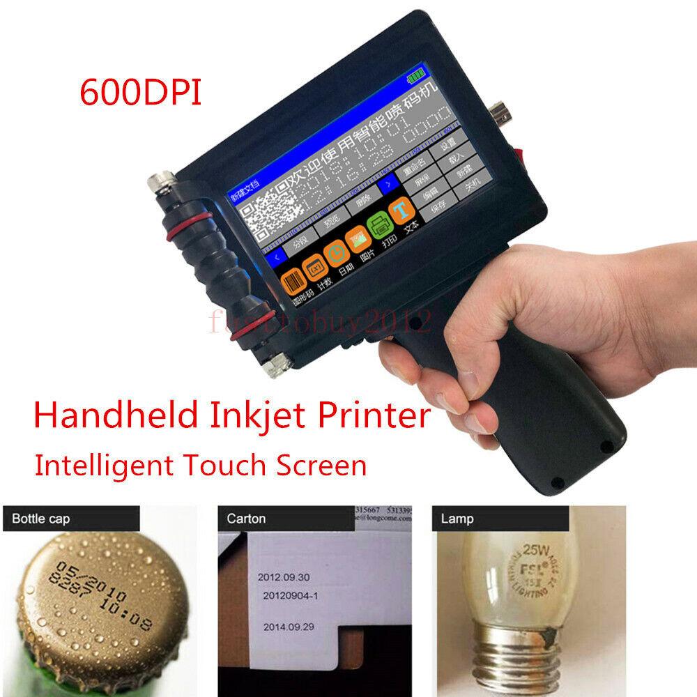 Intelligent Handheld jet Printer Date Words QR Code Barcode Logo Machine upgrade