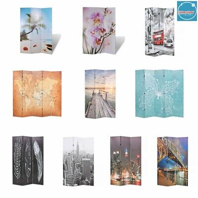 Foldable Double-sided Room Divider Privacy Screen Partition Living Room Bedroom