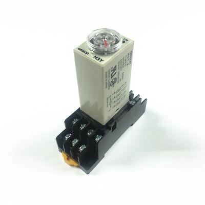 H3y-4 Timer Time Delay Relay 1s-60minutes Dc12 24v Ac24 110 220v 4pdt With Base