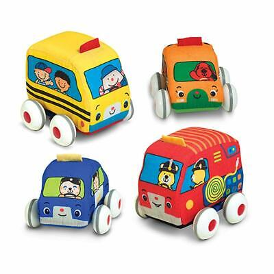 Melissa  Doug Pull-Back Vehicles, Soft Baby and Toddler Toy