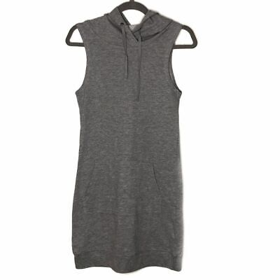Fabletics Yukon Sleeveless Hoodie Gray Sweatshirt Minidress Women's Small