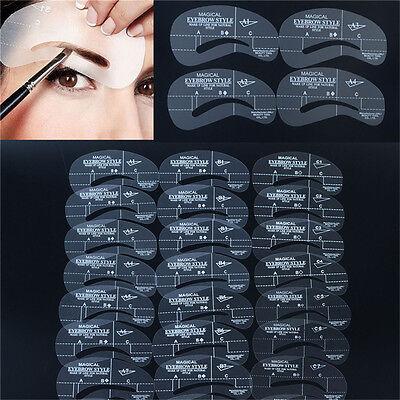 Form Augenbrauen-schablone (24x Augenbrauen Schablone Augenbraue Pflege Gestaltung Vorlage formen nachmalen)