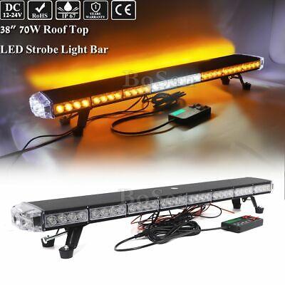 38 Led Emergency Traffic Adviser W Take Down Alley Light Auto Strobe Light Bar