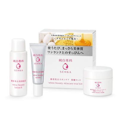 Shiseido Junpaku Senka White Beauty Serum lotion Whitening cream Trial set Japan