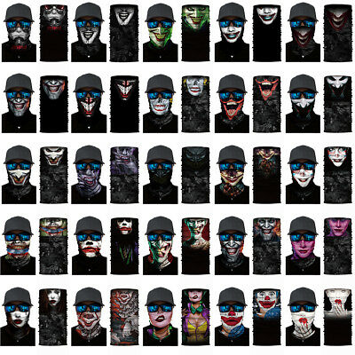 Joker Motorcycle Head Scarf Neck Warmer Face Mask Ski Balaclava Headband Hats](Joker Ski Mask)