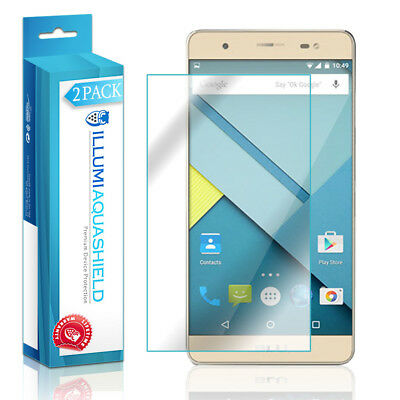 2x iLLumi AquaShield Crystal HD Clear Screen Protector for BLU Energy X Plus Screen Protector Crystal Blue