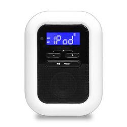 Pyle PICL36B Clock Radio with 30-Pin iPod/iPhone Dock, FM Radio, AUX Input, LED