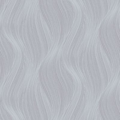 ORLA WAVE GLITTER WALLPAPER GREY - MURIVA 153106 SPARKLE
