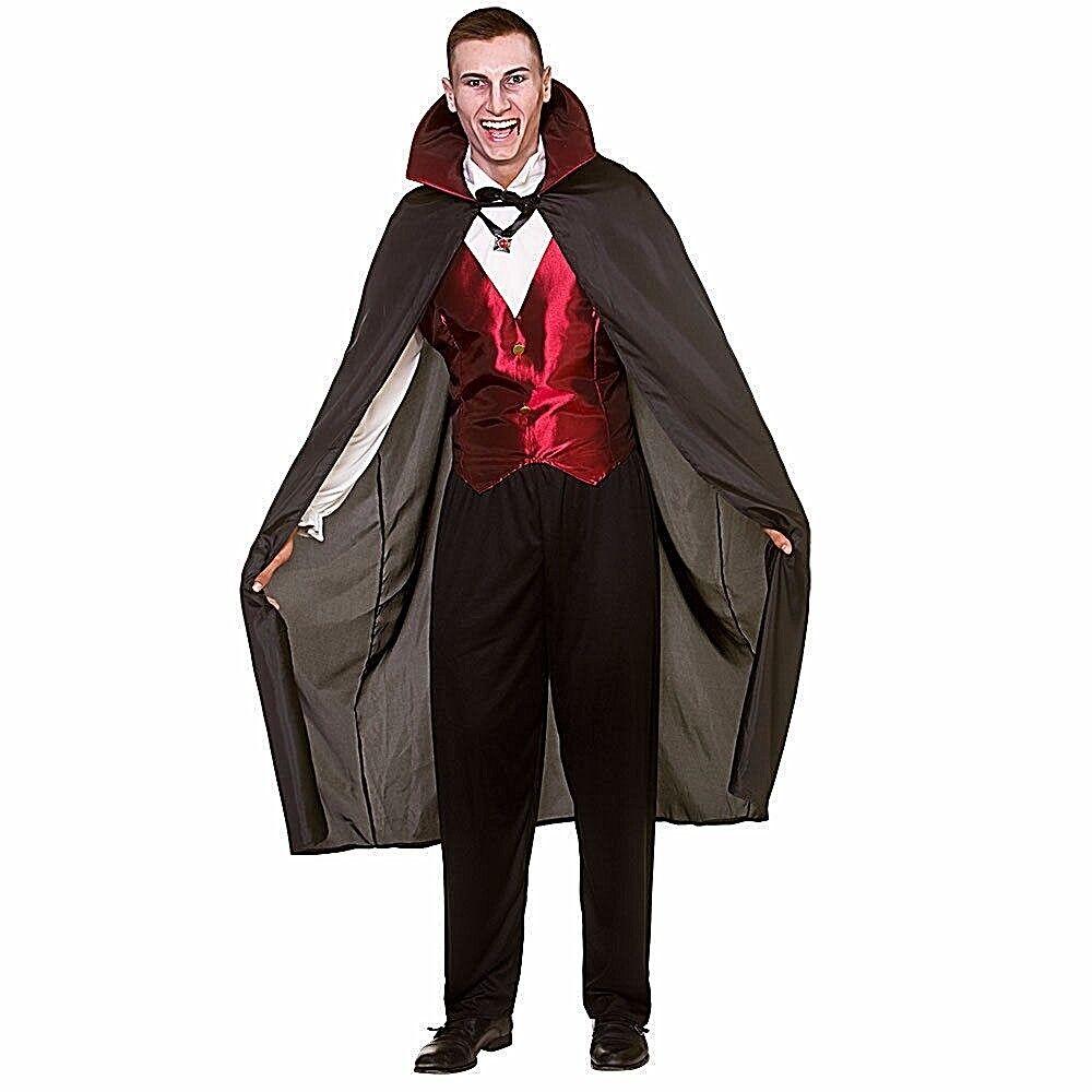 Mens Halloween Horror Dracula Cape Fancy Dress ALL XL SIZES