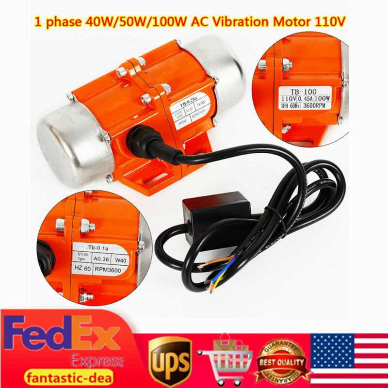AC Vibration Motor 40/50/100W Vibrator Vibrating Asynchronous Vibrator 3600RPM