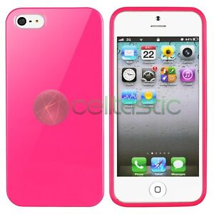New Candy Color TPU Rubber Gel Skin Cover Case for Apple iPhone 5 5G Ultra Thin