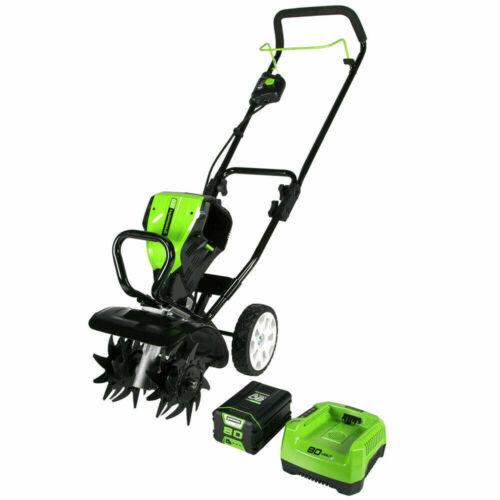 """New Greenworks 80 Volt 10"""" Tiller Cultivator model 2800302"""