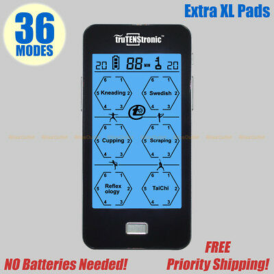36 Mode Smart Tens Unit Relief Handheld Electronic Digital Pulse Massager Xl