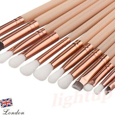 Eye Blending Brush (12x Professional Eyeshadow Blending Pencil Eye Brushes Set Makeup Tool UK LIGH)