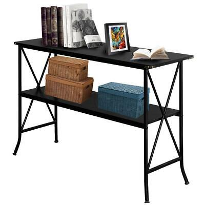 2-Tier Sofa Table Console Furniture Modern Living Room Accent Entryway Storage