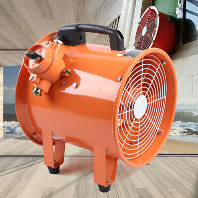 12 Spray Booth Fan - Tube Axial 2191 Cfm - 1 Phase Motor - Cylinder Pipe Fan