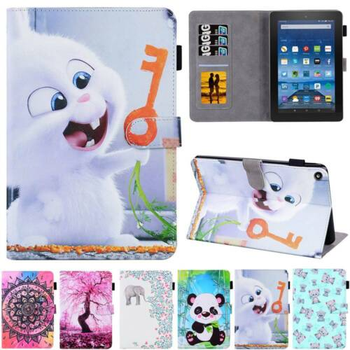 For Amazon Fire HD 8 10 2015-2019 5/6th 7th 8th 9th Gen Leat