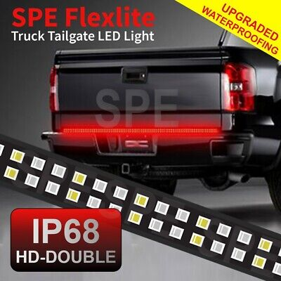 60 Inch 2-Row LED Truck Tailgate Light Bar Strip Red/White Reverse Stop Signal White Led Tailgate