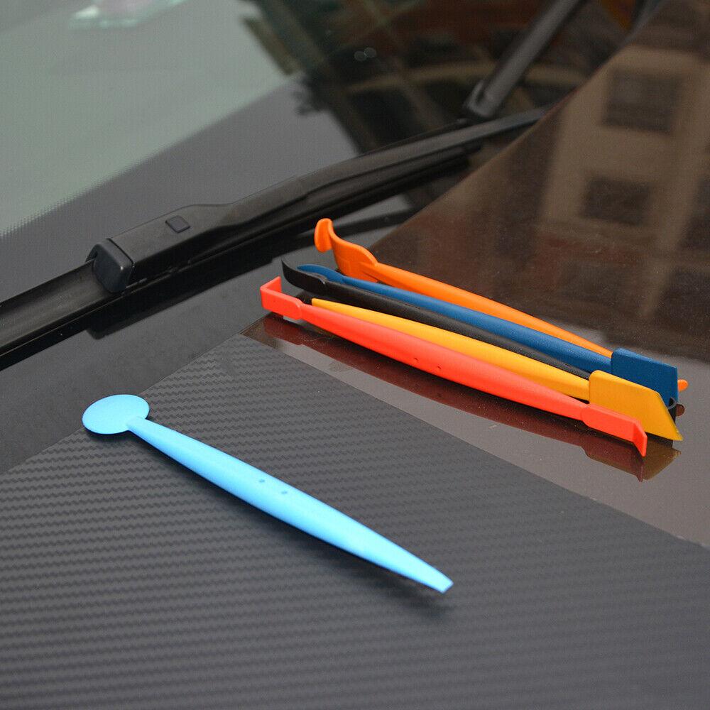 2 Pcs Flexible Felt Gasket Micro Tuck Tool Vinyl Wrap Squeegee Carve Slot Kit US