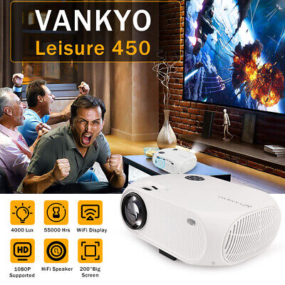 VANKYO Full HD 1080P Mini LED Projector 4000 Lux 170'' Display HDMI Home Cinema