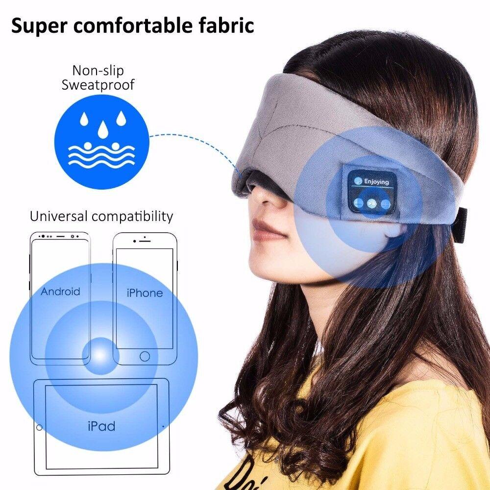 2in1 Wireless Sleep Headphones Bluetooth Headset Sleeping Eye Mask