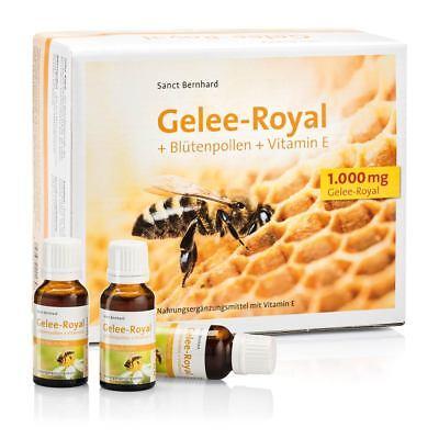 100 ml Gelee-Royal Blütenpollen Vitamin E von Sanct Bernhard (5 Trinkfläschchen) - Pollen, Gelee Royal