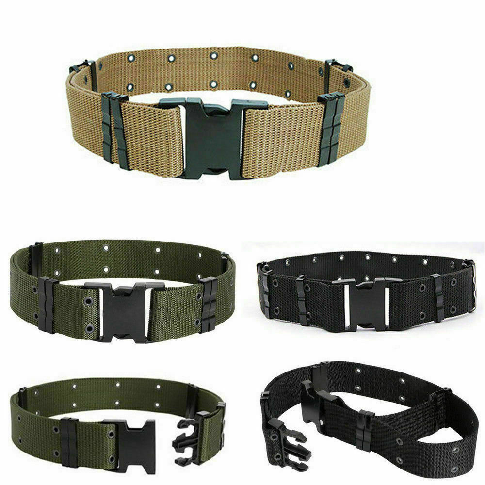 Army Tactical Military Waistband Men's Buckle Waist Belts Outdoor Training Belt Hunting
