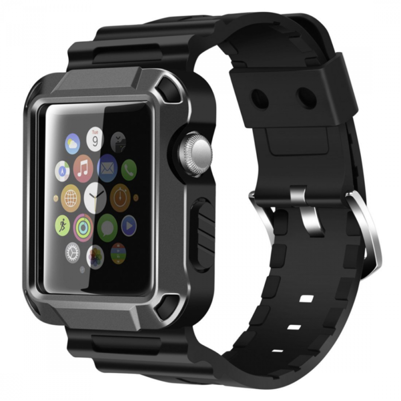 iWatch Strap Band & Full Armor Case Cover Screen Protector