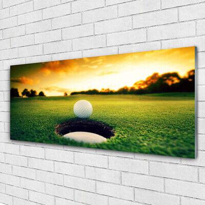 Tulup Imagen en vidrio Impresión Cuadro de 125x50 Pelota de golf Naturaleza