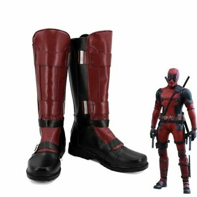 X-men Deadpool Wade Men Cosplay Shoes - X Men Deadpool Kostüme