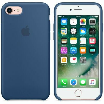 NEW Apple iPhone 7 & 8 Silicone Case Cover Protection Ocean Blue Genuine Openbox