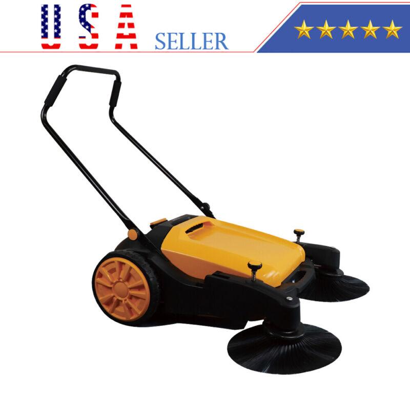 "New 36"" Industrial manual push sweeper walk-behind floor sweeper USA-SELLER"