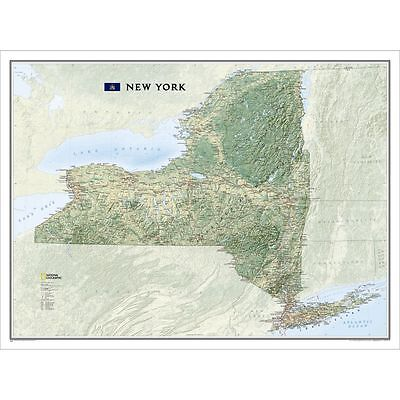 NEW National Geographic New York NY Wall Map 40.5