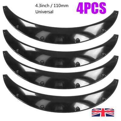 """ABS 4Pcs 4.3""""/110mm Universal Flexible Car Fender Flares Body Wheel Wide Arches"""
