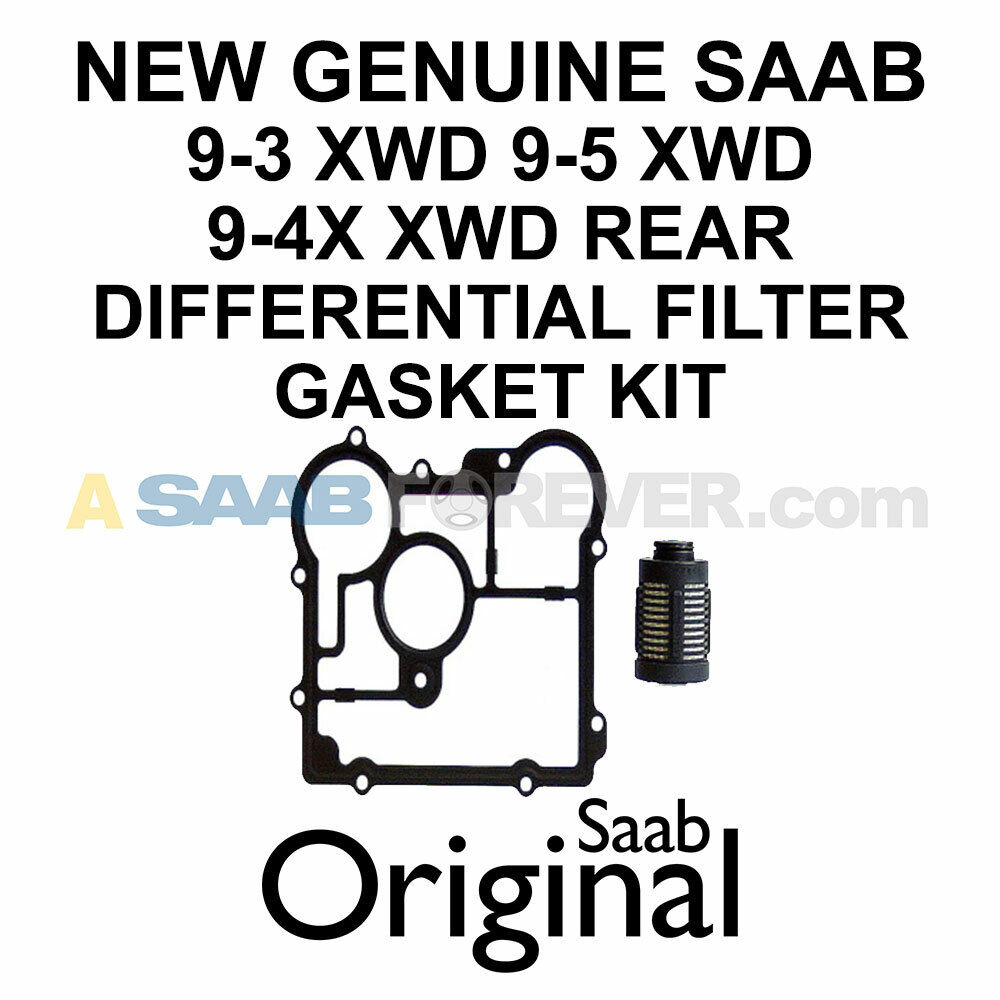 NEW GENUINE SAAB XWD REAR DIFFERENTIAL FILTER GASKET KIT 9