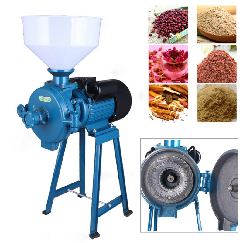Commercial Grain Grinder Machine Electric Feed Grain Mills w/Funnel 1500W 110V
